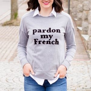 Old Navy Pardon My French Graphic Sweatshirt